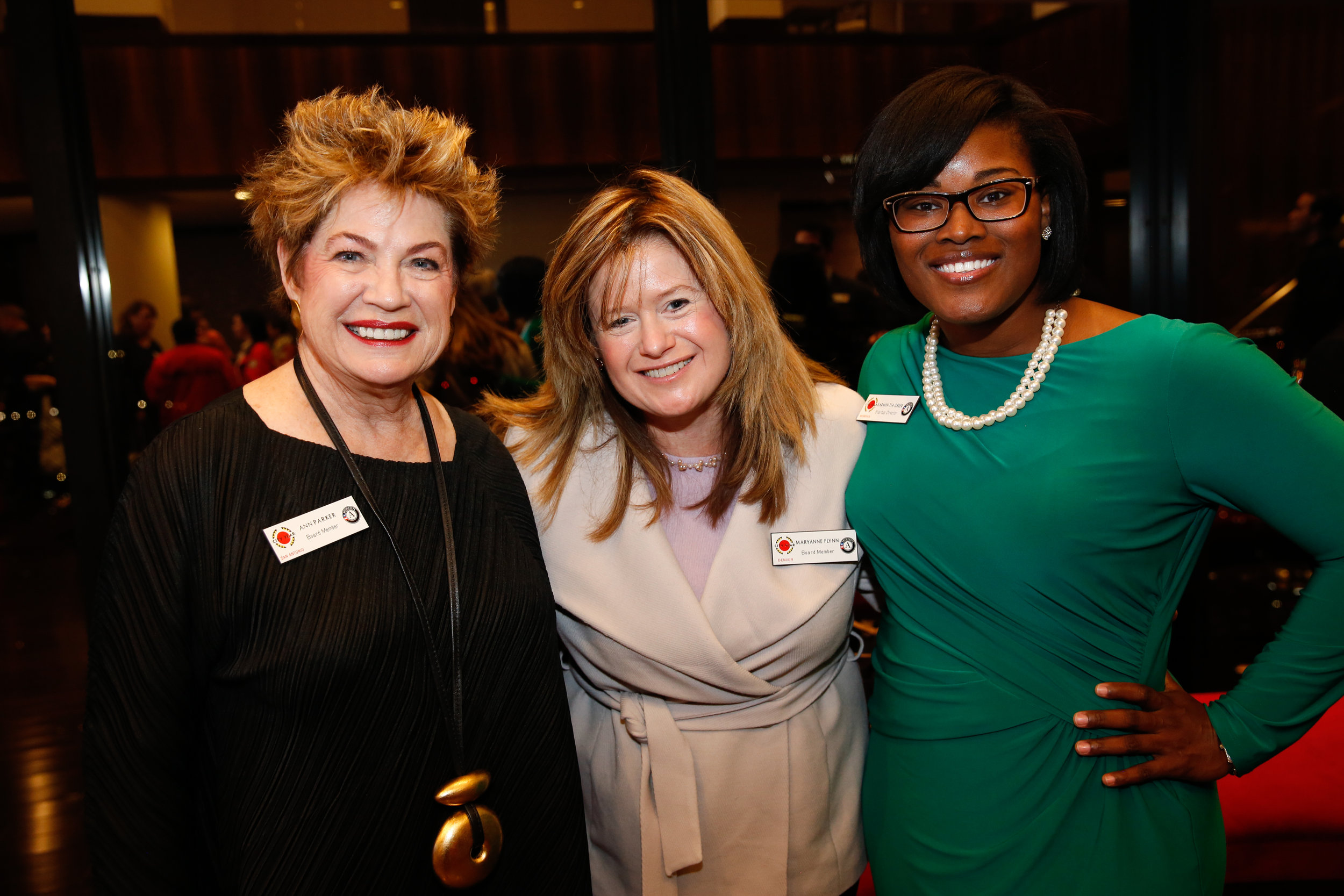 Ann Parker, Maryanne Flynn and Karmin-Tia Greer at the Bain Capital Reception