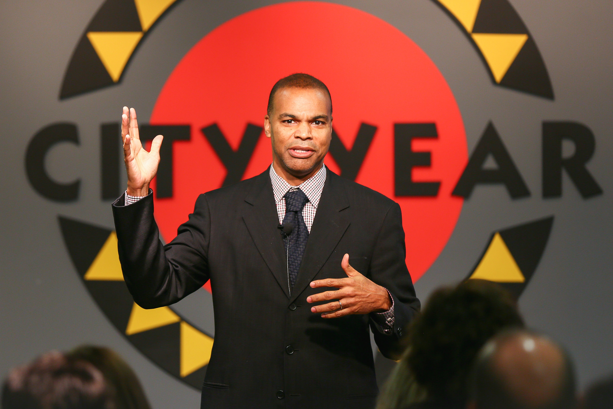 Coach Tommy Amaker presenting at the RJS Conference