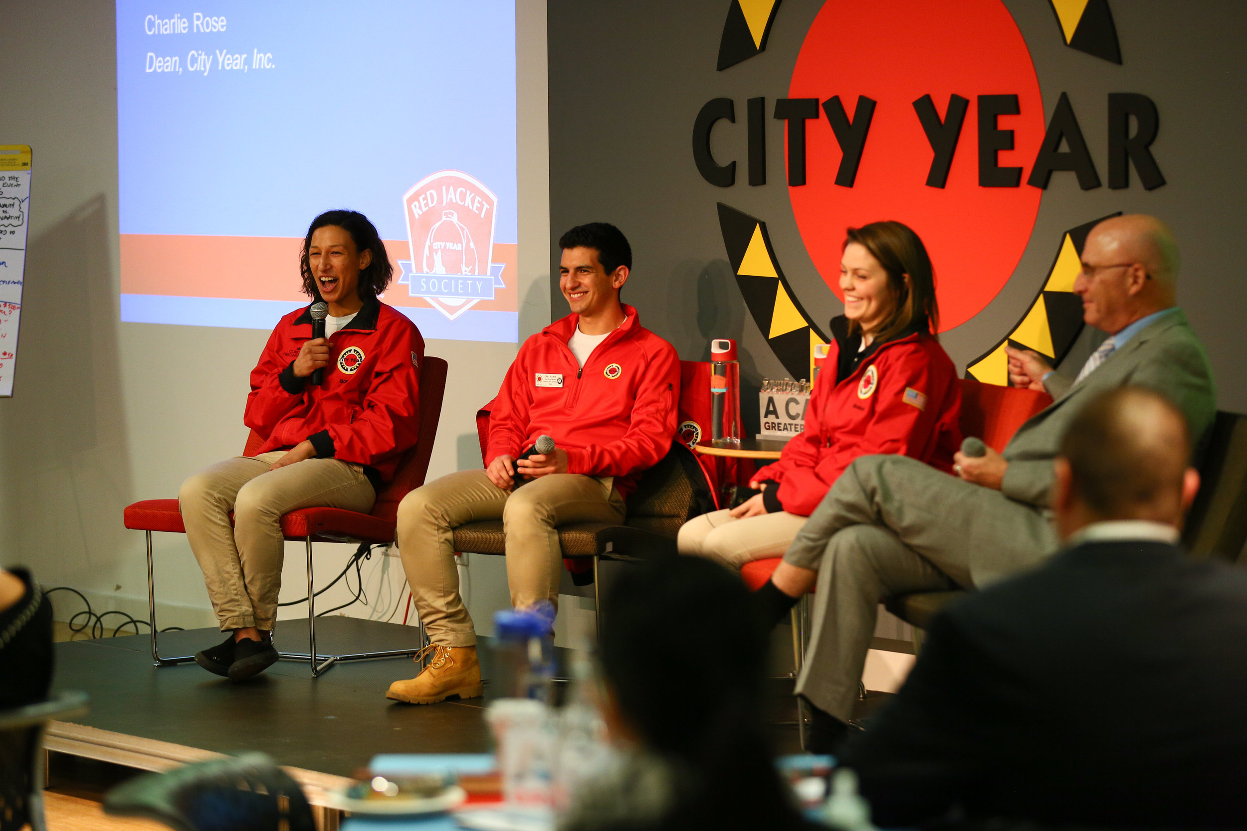 AmeriCorps Member panel at the RJS Conference