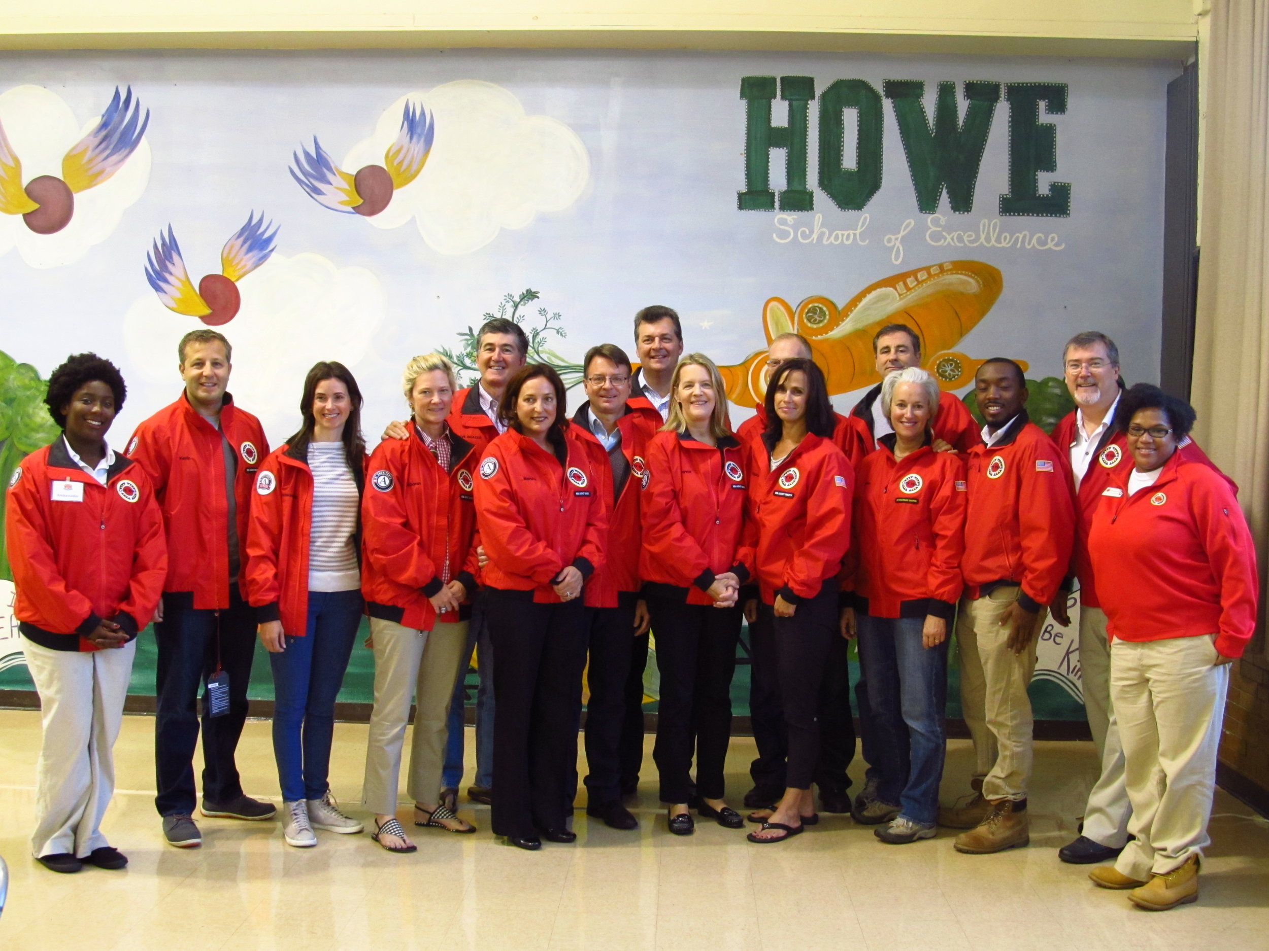 Red Jacket Society Members and AmeriCorps members following the Jacket Dedication Ceremony