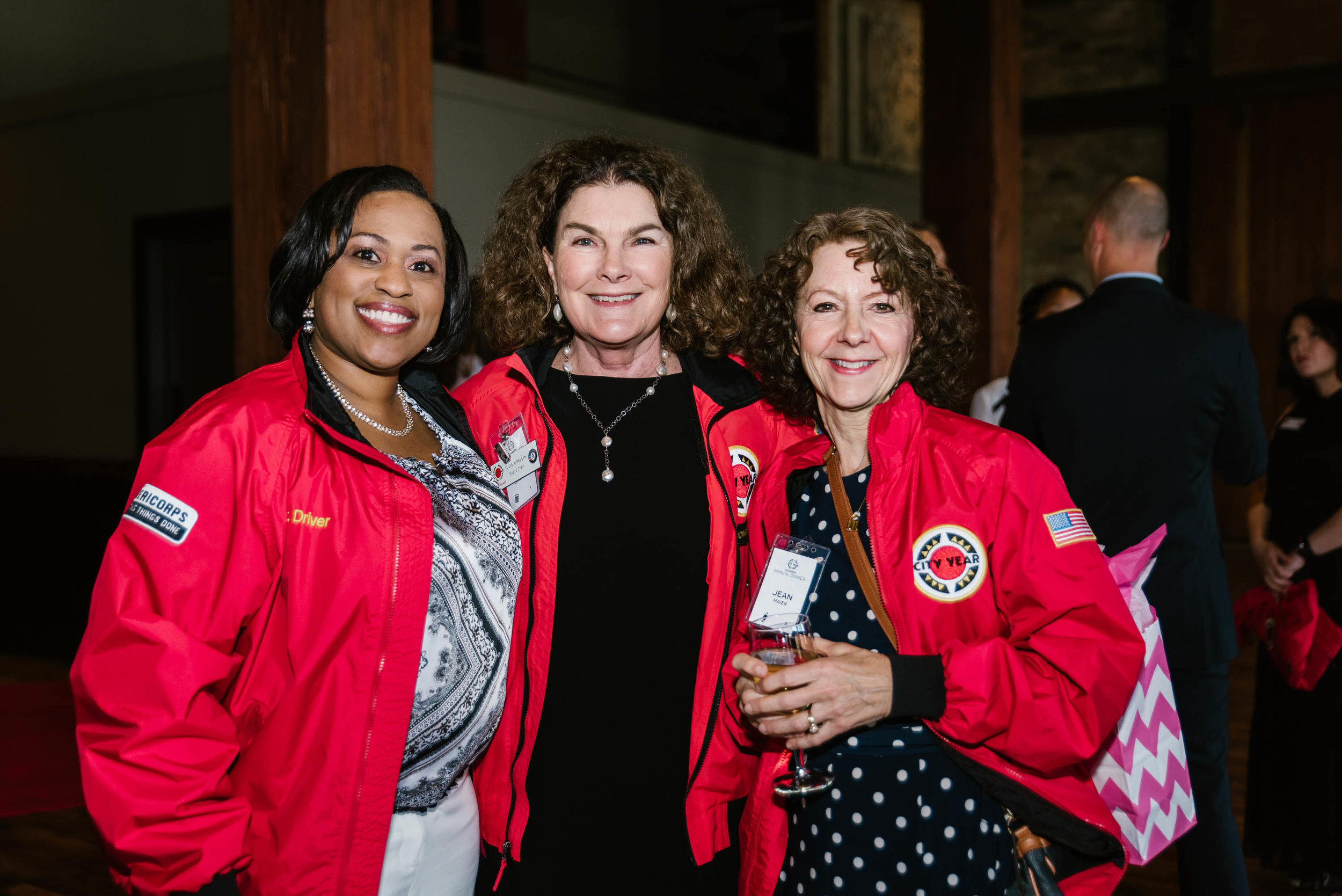 Milwaukee Public Schools Superintendent, Dr. Darienne Driver, City Year Milwaukee Board Chair, Julia A. Uihlein, and City Year Milwaukee Board Member, Jean Maier