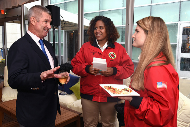 RJS Member Michael Quinlan (PWC) with City Year Boston AmeriCorps Members
