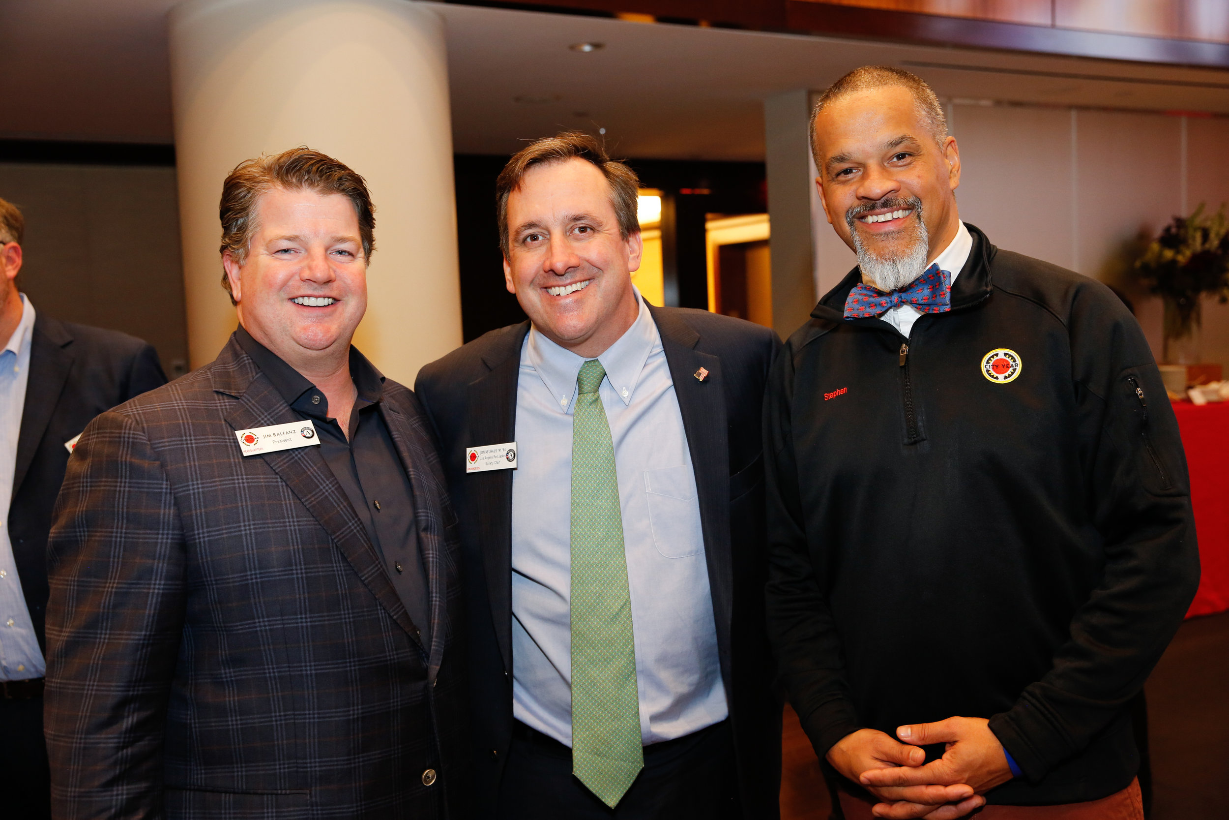 City Year President, Jim Balfanz; Los Angeles RJS Chair, Jon Neuhaus; and City Year Vice President of Team Leadership, Stephen Spaloss at the Bain Capital Reception