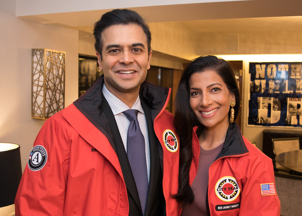 Chicago RJS Chair and Site Board Member, Ravin Gandhi, with his wife Sonal