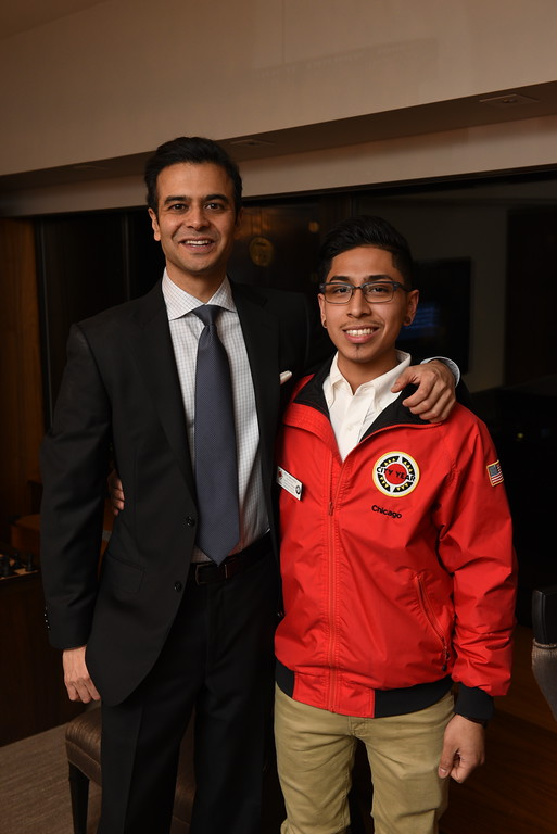 Ravin and City Year Chicago AmeriCorps Member and RJS Ambassador Argenis Hernandez