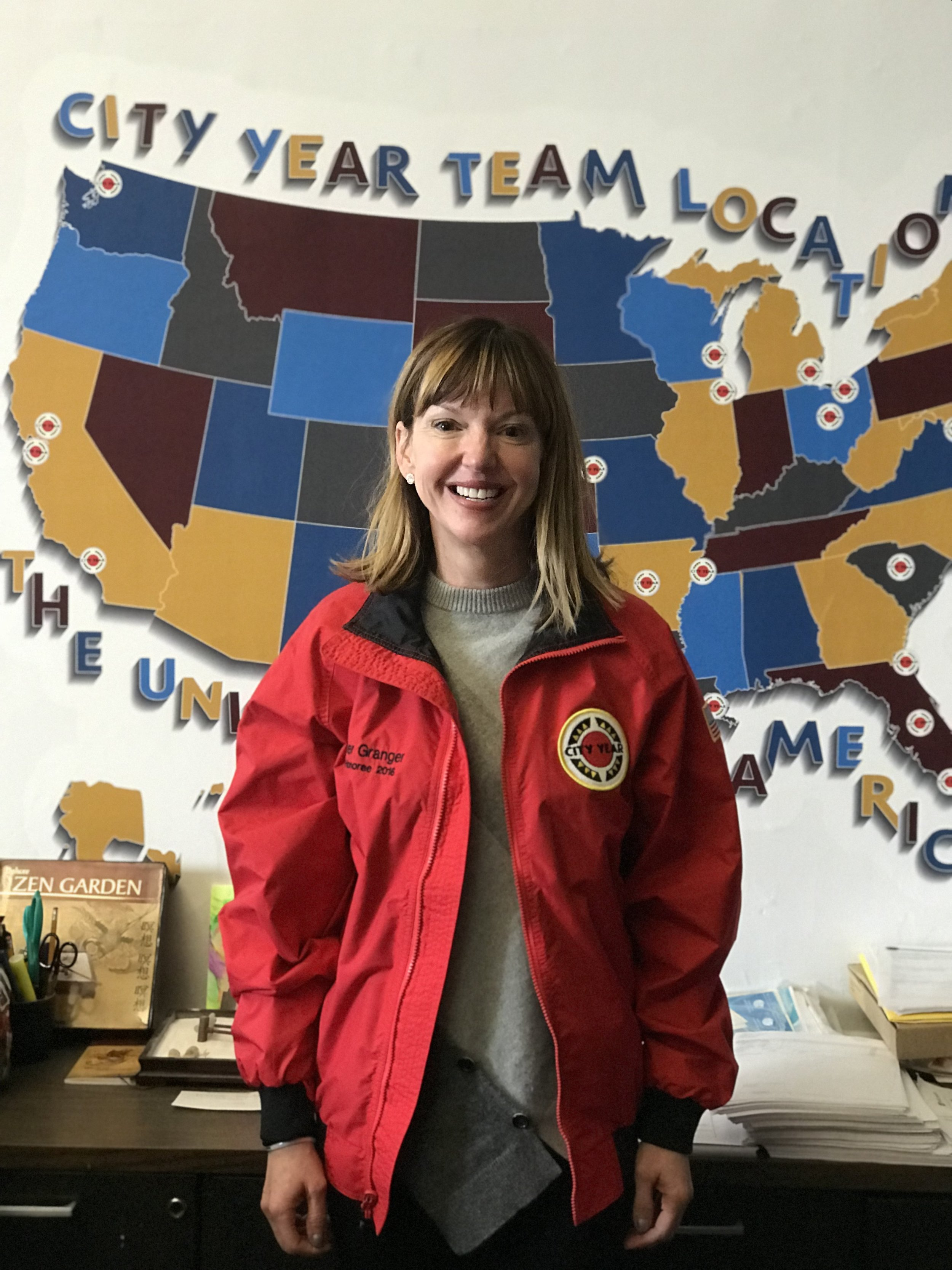 Jennifer Granger in her City Year red jacket