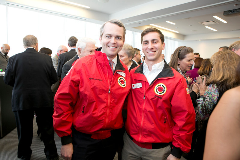 City Year Chicago Site Board Chair John Gilligan and AmeriCorps member Matt Mrozak