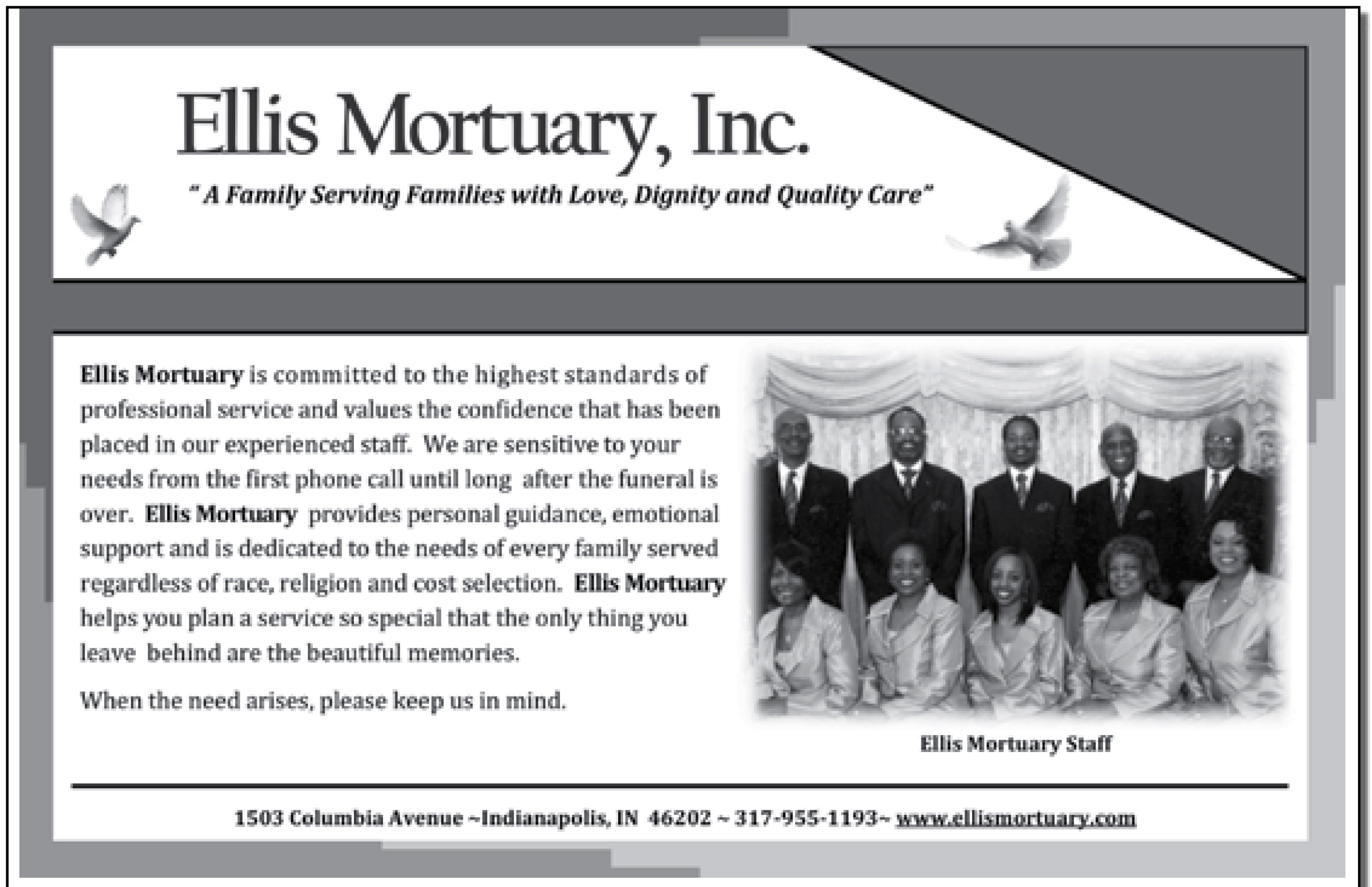 Half Page Black & White $100