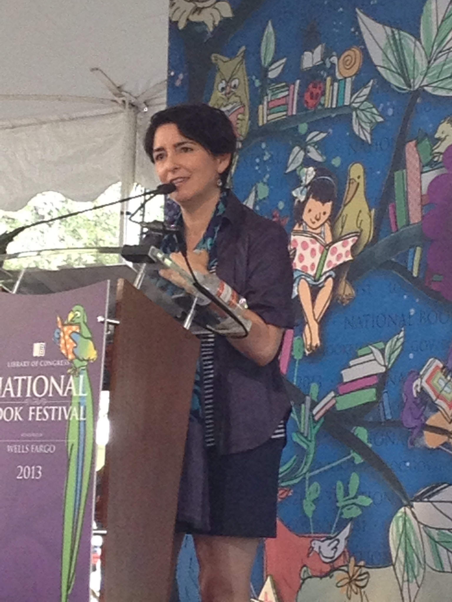 Denise speaking at the 2013 National Book Festival in Washington, DC.