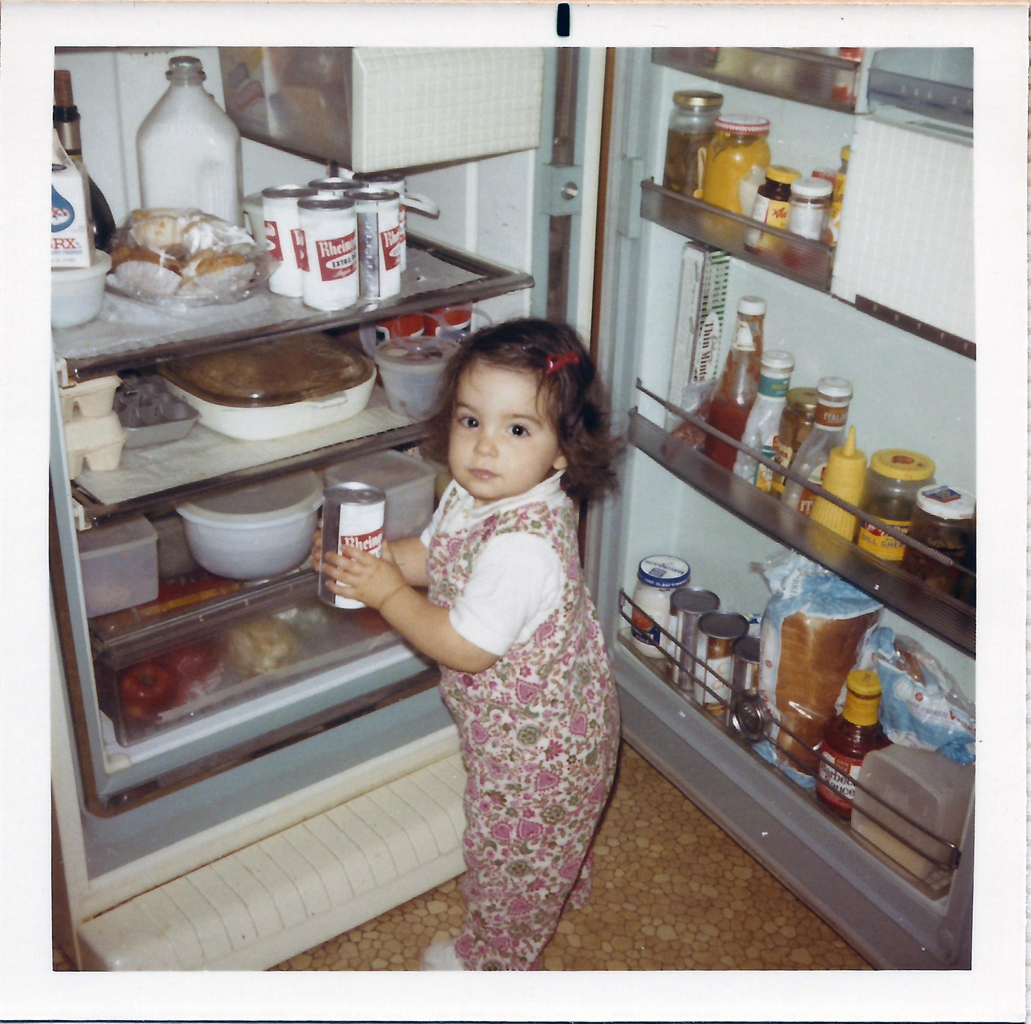 Me, aged 2, getting a Rheingold beer.