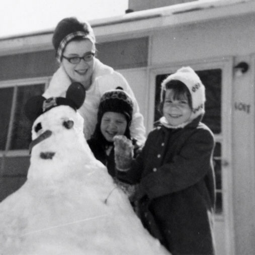 Lolly and brother Jackson with Edie, Lafayette, Indiana, 1964