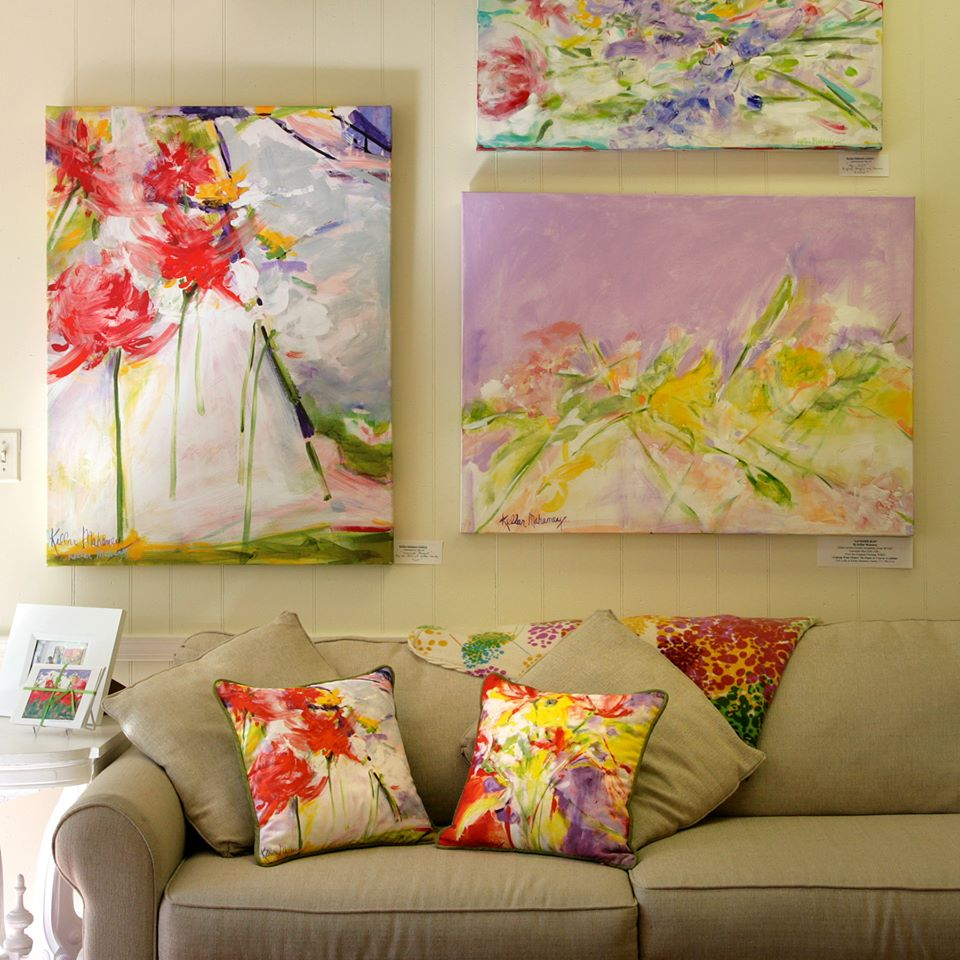 Kellar Mahaney originals and pillows Photo by Casalini