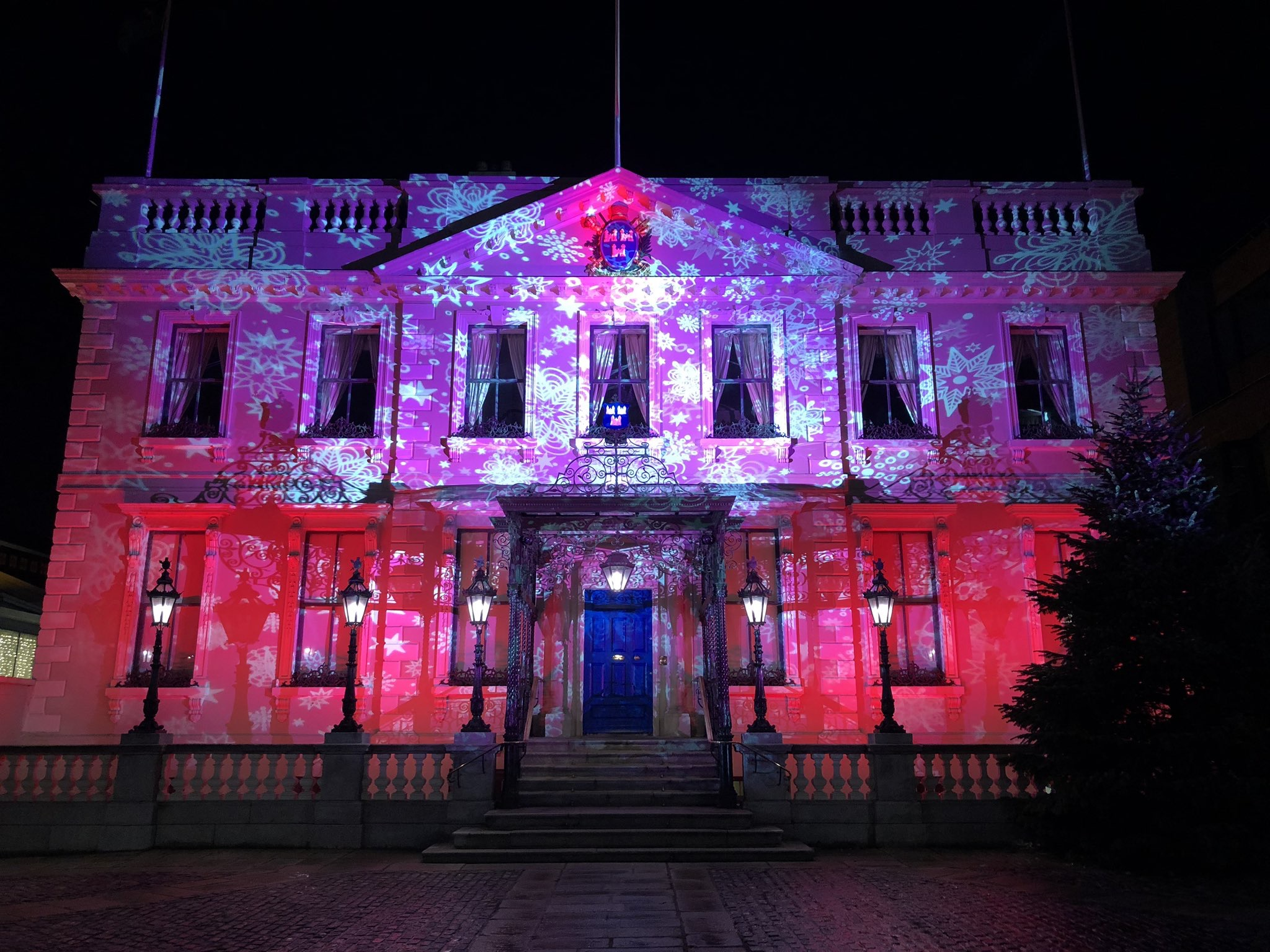 Winter Lights Mansion House