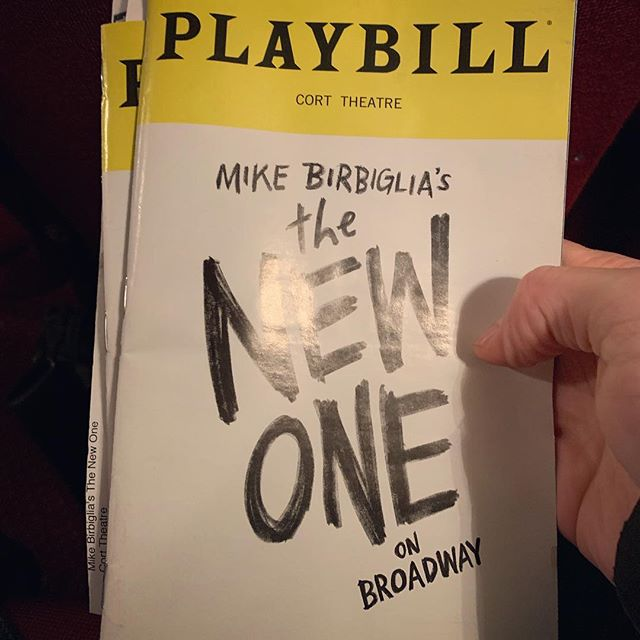 Saw @birbigs in @newonebway with @alfierijessica. We have somehow managed to see every Birbiglia play since Sleepwalk With Me. Best Christmas gift from the best person :)