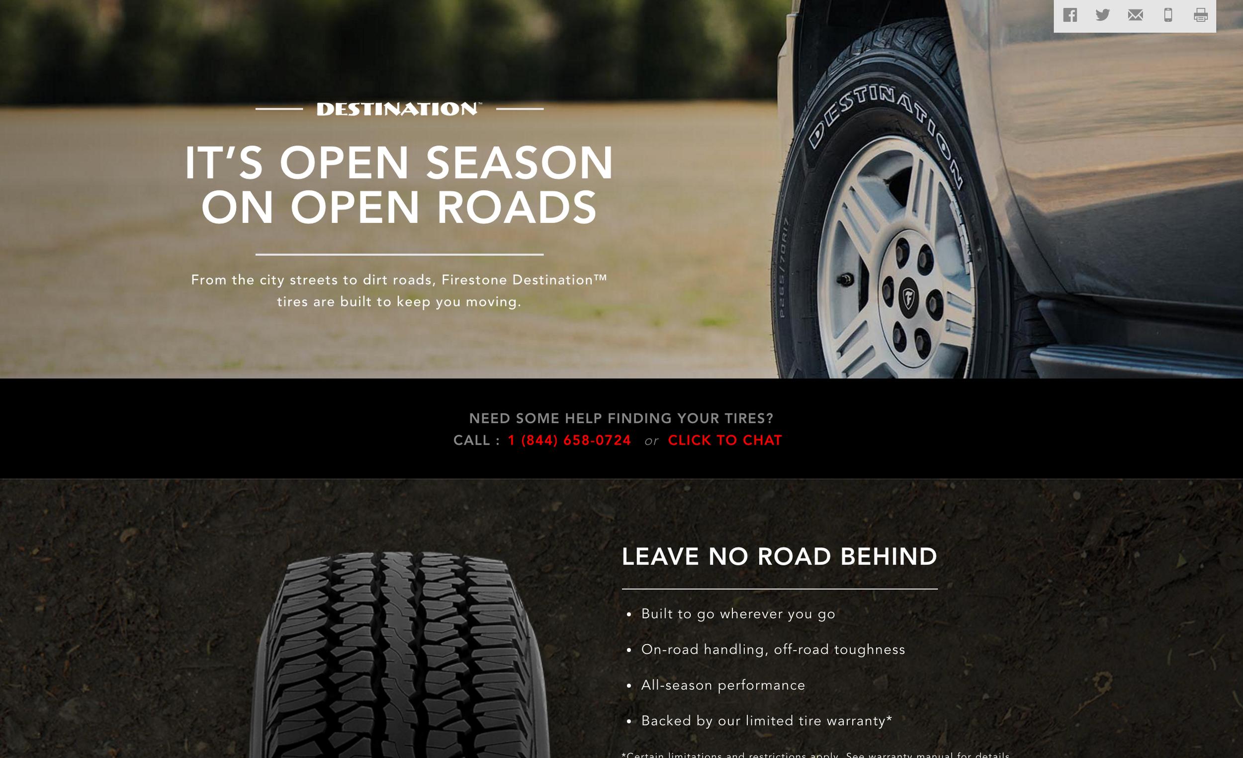 Destination Tires Page