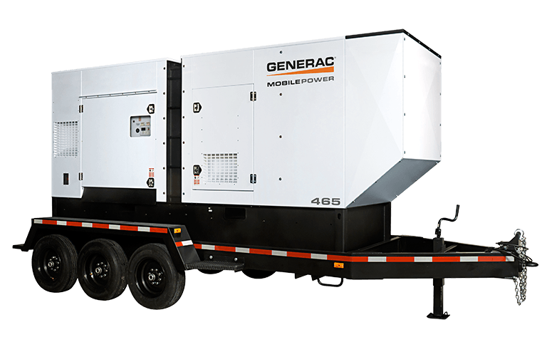 Generac Mobile Power Generators provide portable power in a wide range of outputs and voltage configurations.