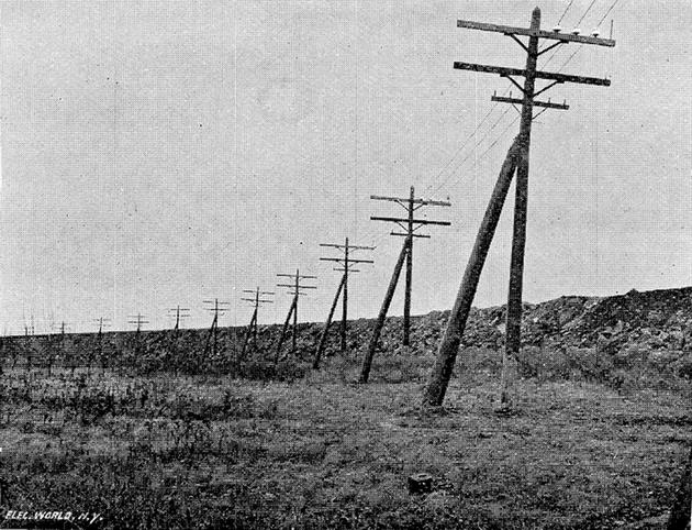 11,000-volt Niagara Falls to Buffalo transmission line from June 5, 1897