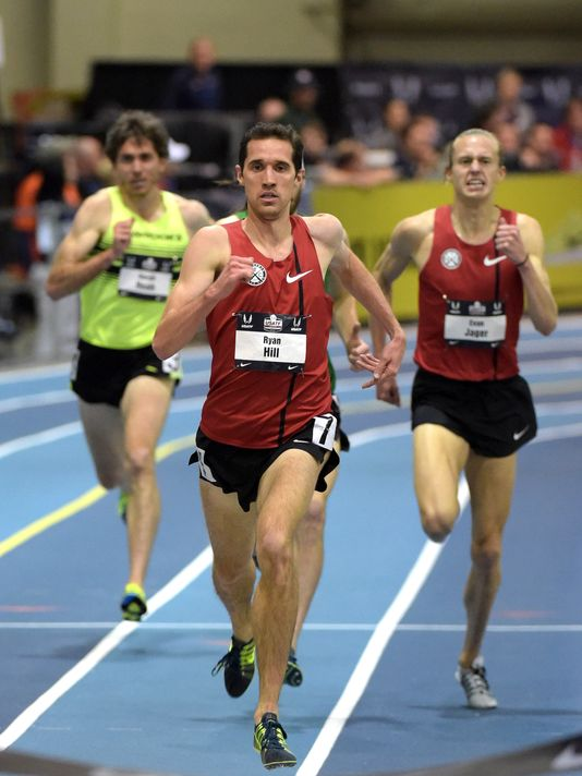 Evan finishes third at USATF Indoors  (photo by Kirby Lee)