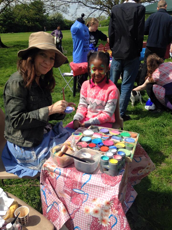 Face Painting at The Bark Off