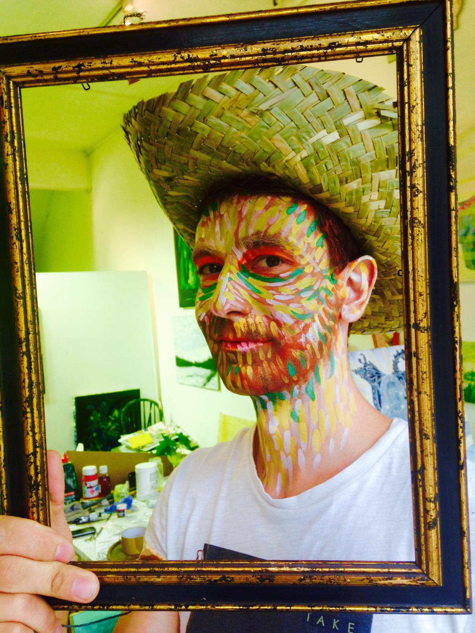 Van Gogh Self Portrait with Straw Hat 2