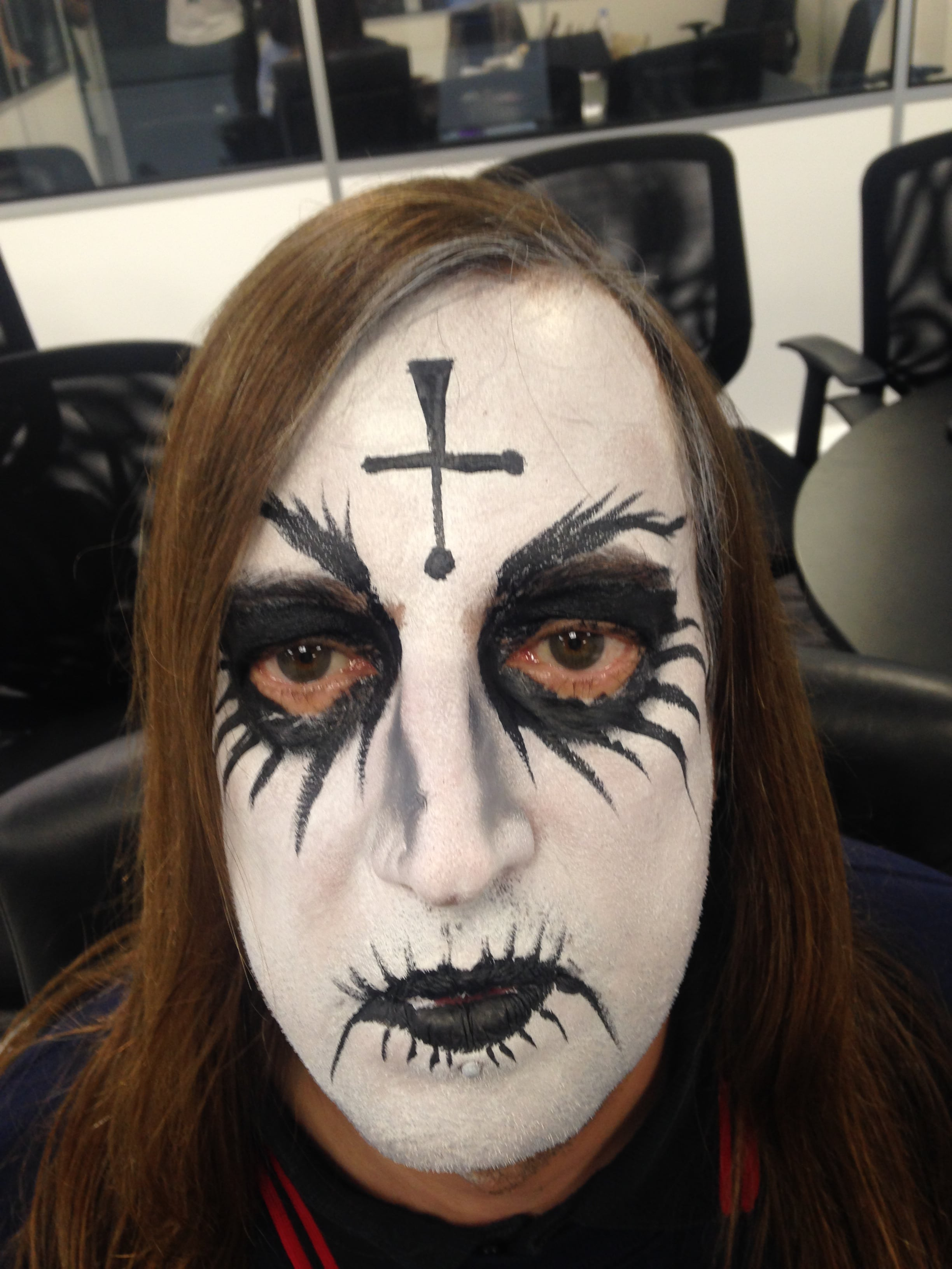 Goth Face Painting