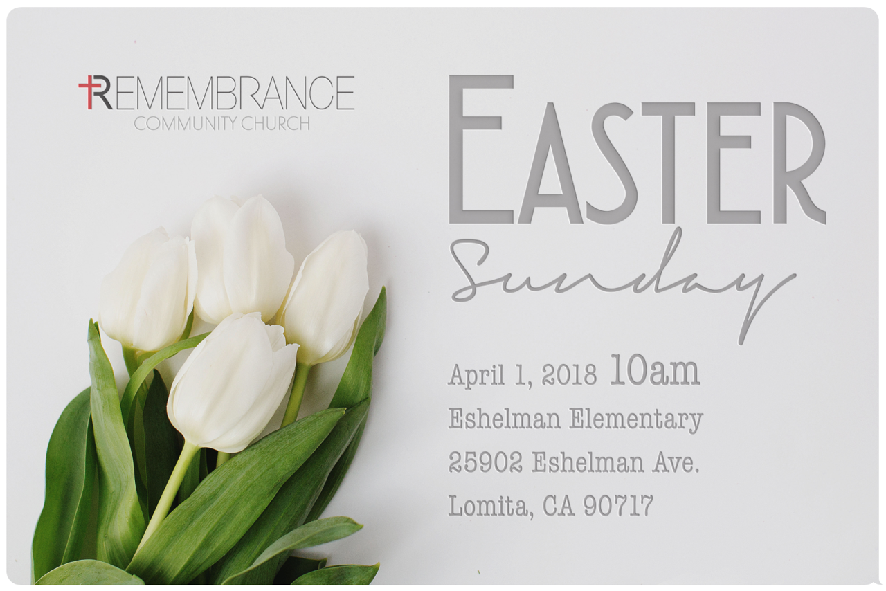 Join us on Easter Sunday at 10am for our Easter celebration! Come learn who Jesus is, what he died for and how His resurrection changes everything for our lives today. Everyone is welcome so come join us! Full Children's Ministry available.  Service at Eshelman Elementary School
