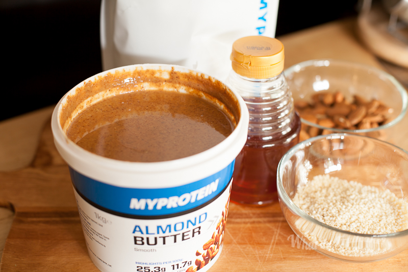 A delicious tub of almond butter