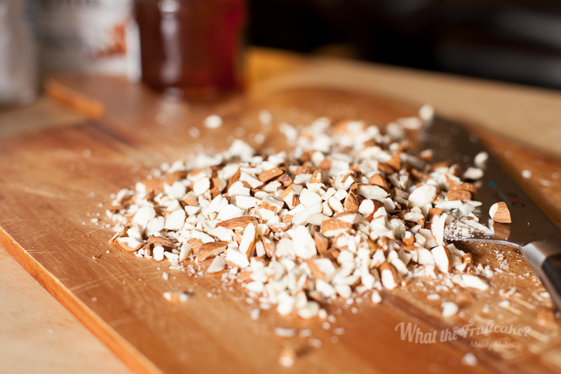 Chopped almonds for texture