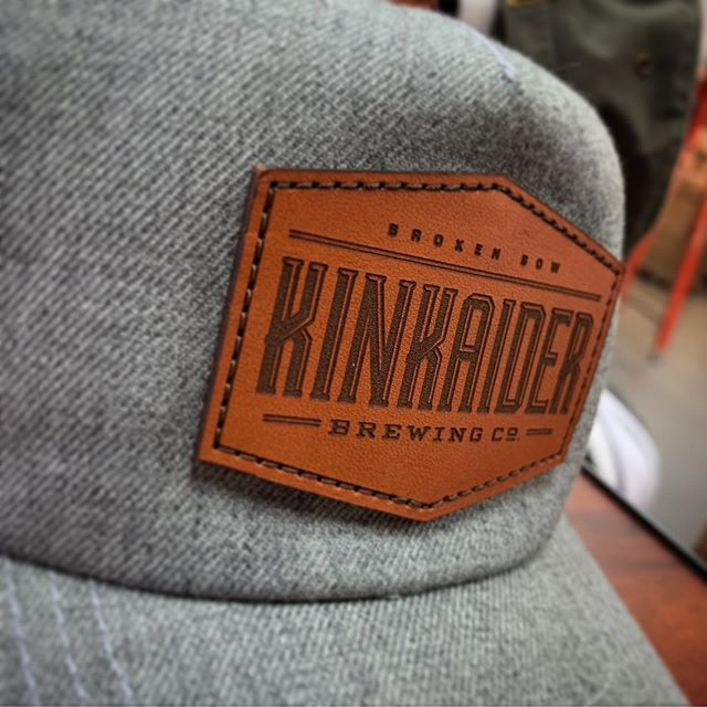 Hats off to Kinkaider Brewing for pulling the trigger on some custom leather patches. . . . . @kinkaiderbrewing . . #leatherpatches #customcaps #customheadwear #brewerymerch  #screeninkne