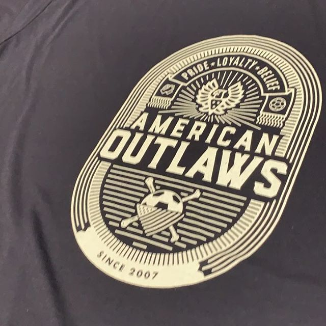 @americanoutlaws member tees on repeat today. #ussoccer #americanoutlaws #screeninkne #screenprinting #mylnk