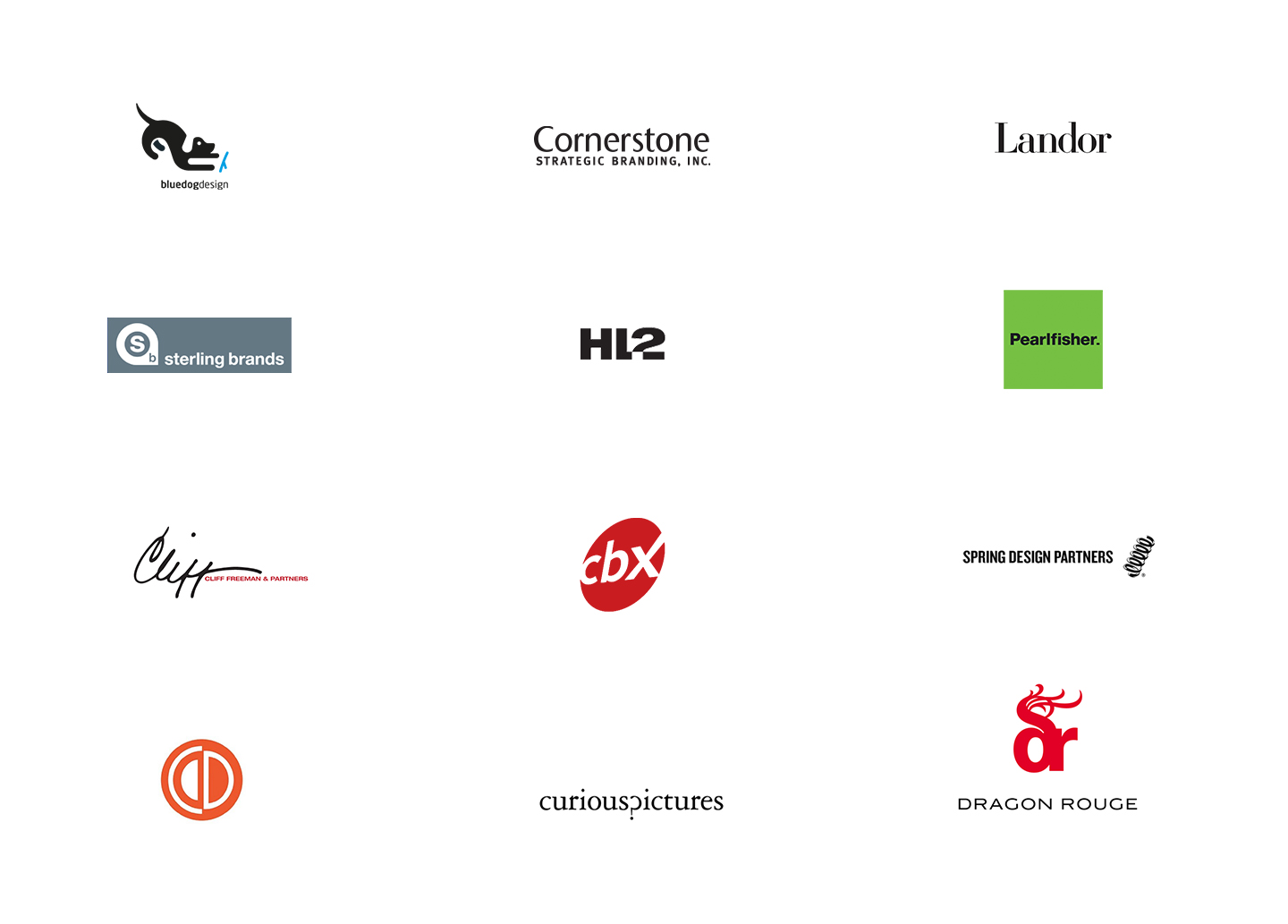 A sample of creative agency clients