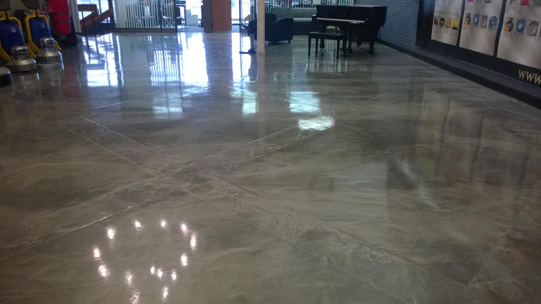 Marbleized Metallic Epoxy Floors