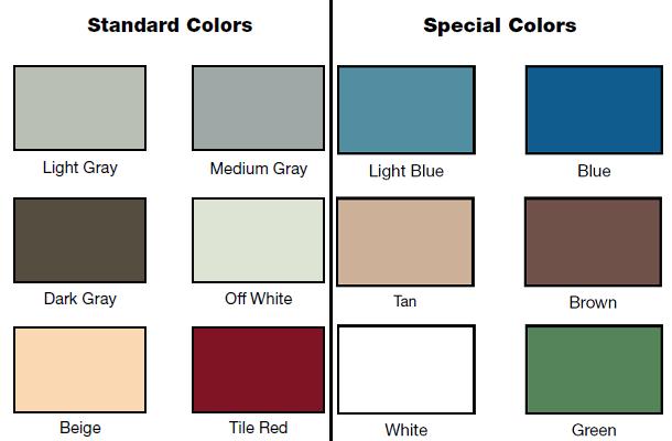Epoxy Color Chart