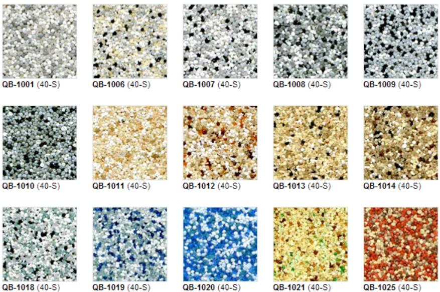 Quartz anti-skid color chart