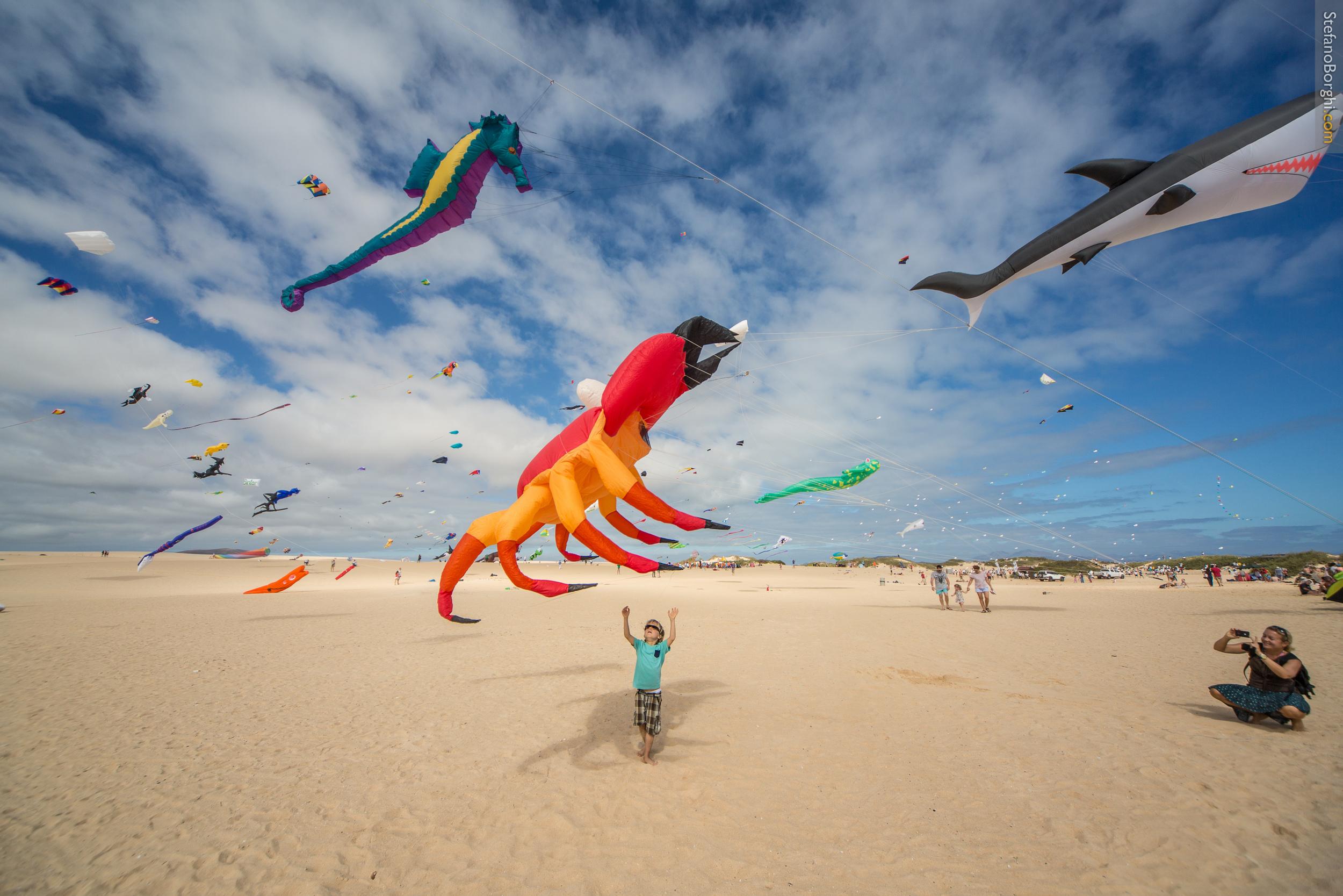 kite festival on the dunes of corralejo