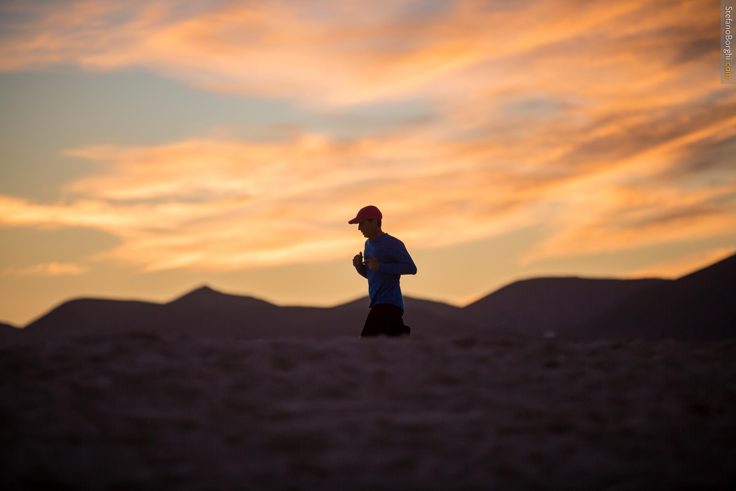 runnin on the desert in Fuerteventura