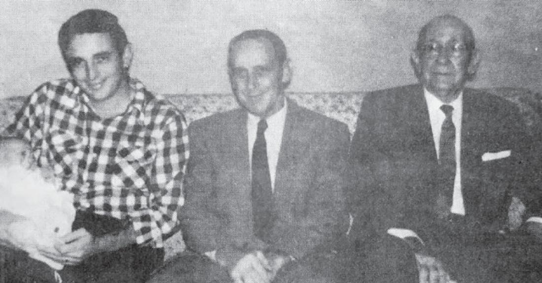 Four generations of Columbus Rotary Presidents:Jack Key III ( 1997-98), Jack B. Key Jr. (1976-77), Jack B. Key Sr. (1935-36), James Biggers Key (1920-21).