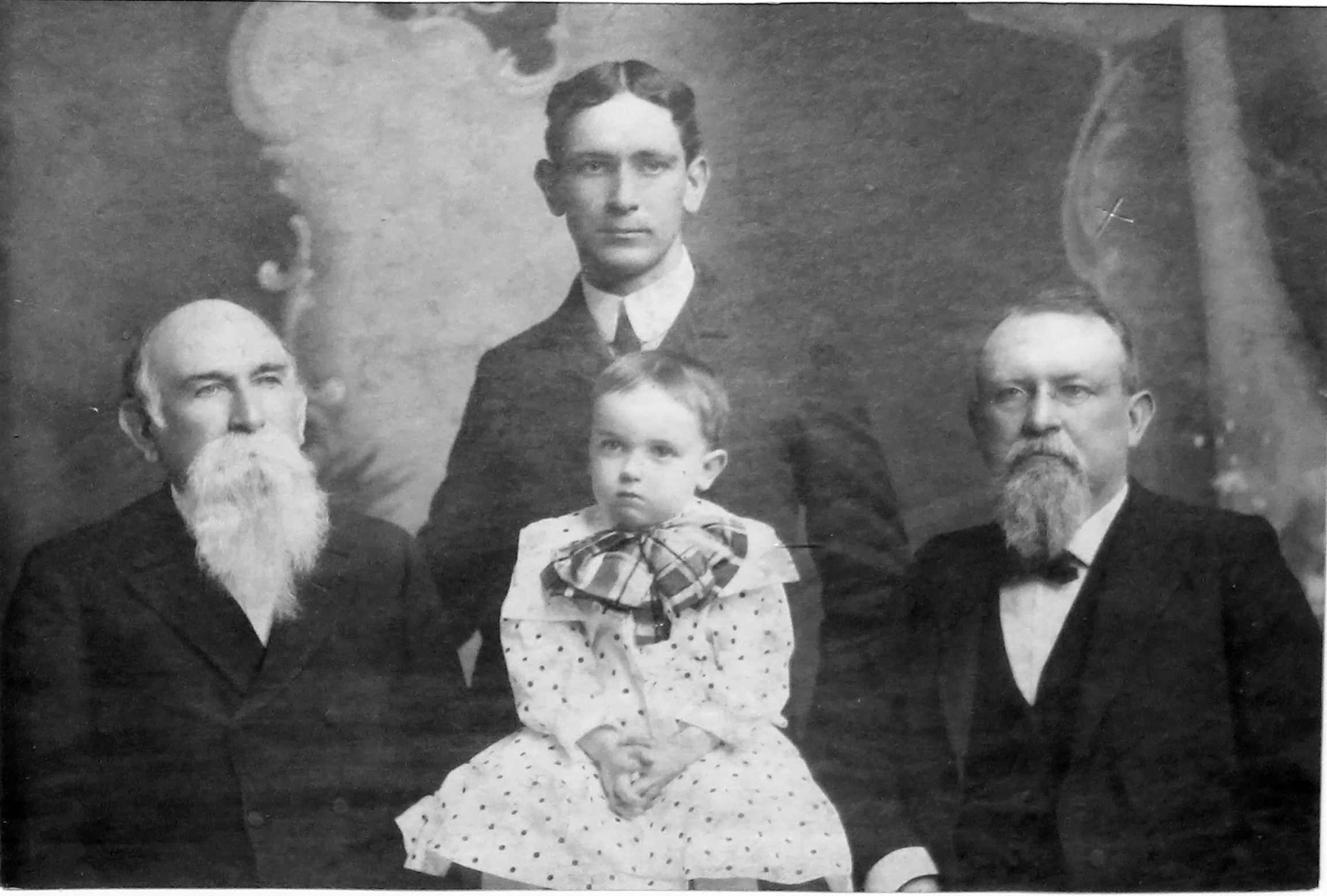 James Biggers Key with baby Jack B. Key and his father Howard W. Key.