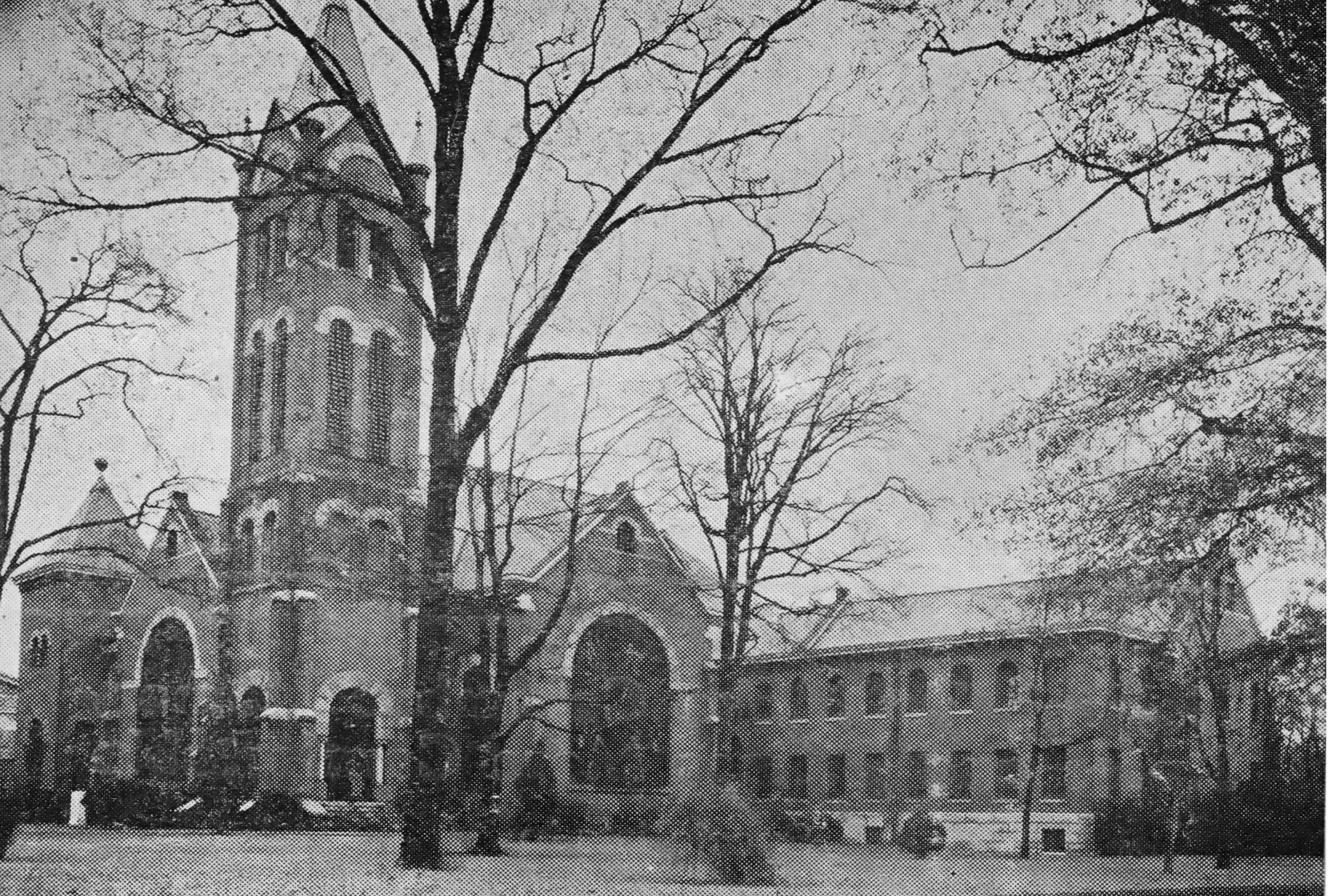 The Fifth St. Luke Church building in Columbus, completed in 1900, destroyed by fire in 1942.