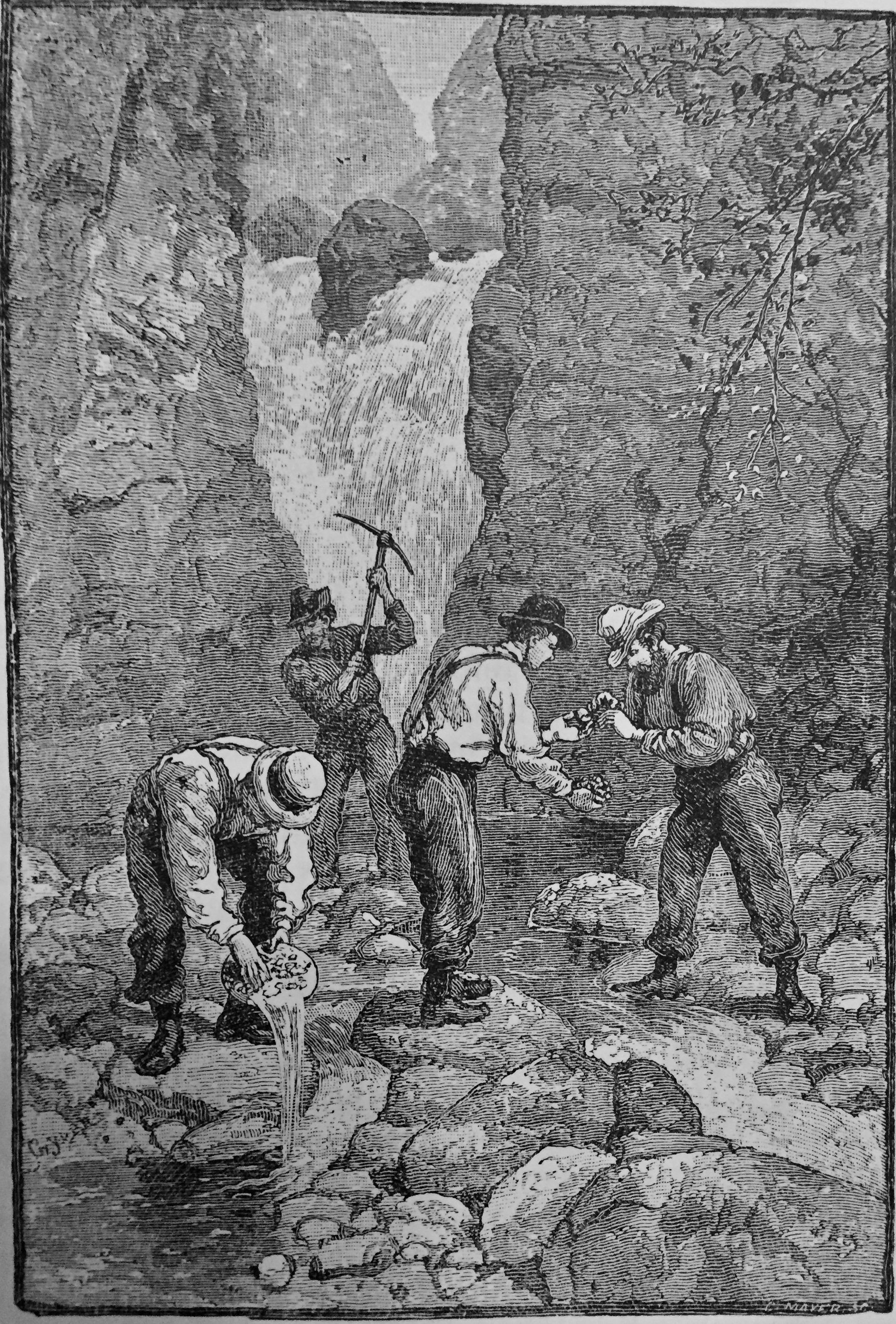 Goldmining in Dahlonega, Georgia in 1879.