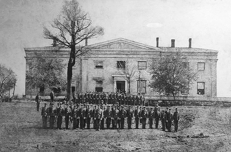 The U.S. Mint at Dahlonega, GA 1838-1861. Donated to the state in 1871. Served as a school building after the war. Burned in 1878.