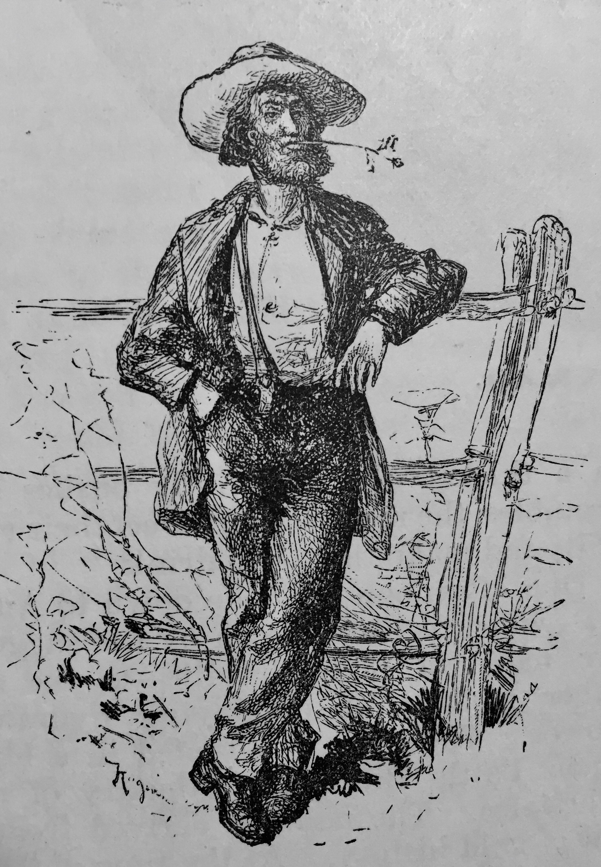 A Georgia Gold Miner in 1879, from an article at the Harper's New Monthly Magazine.