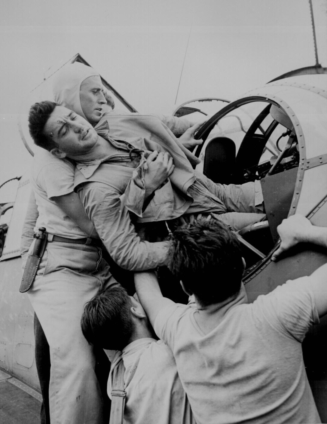 Wounded Turret Gunner, 1943