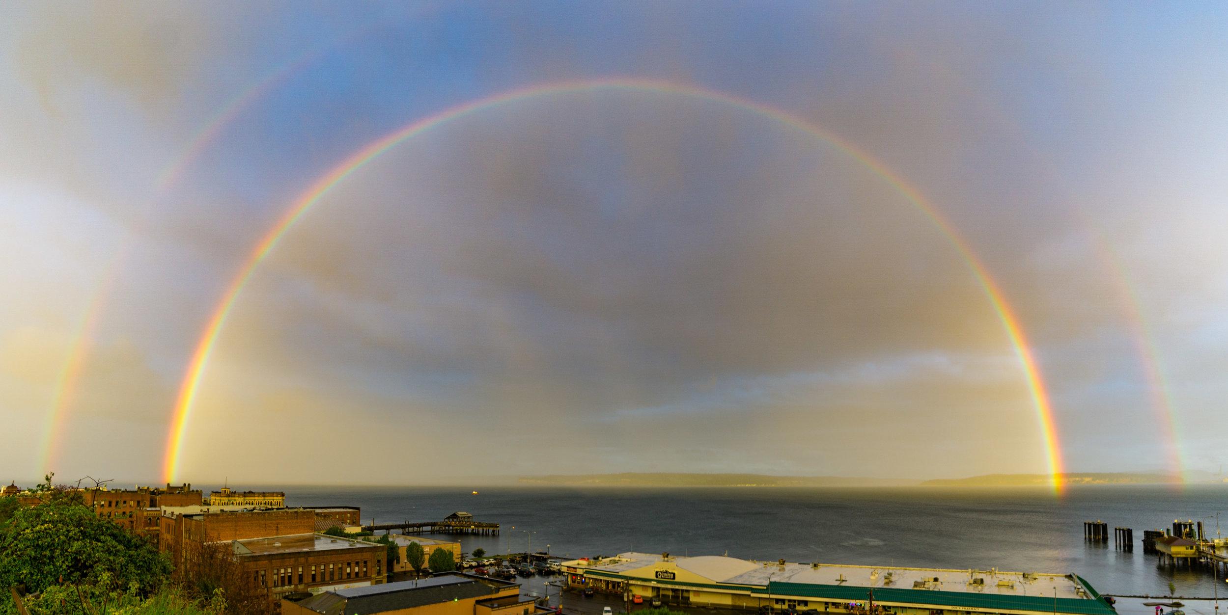 Double Rainbow, Port Townsend, 2017