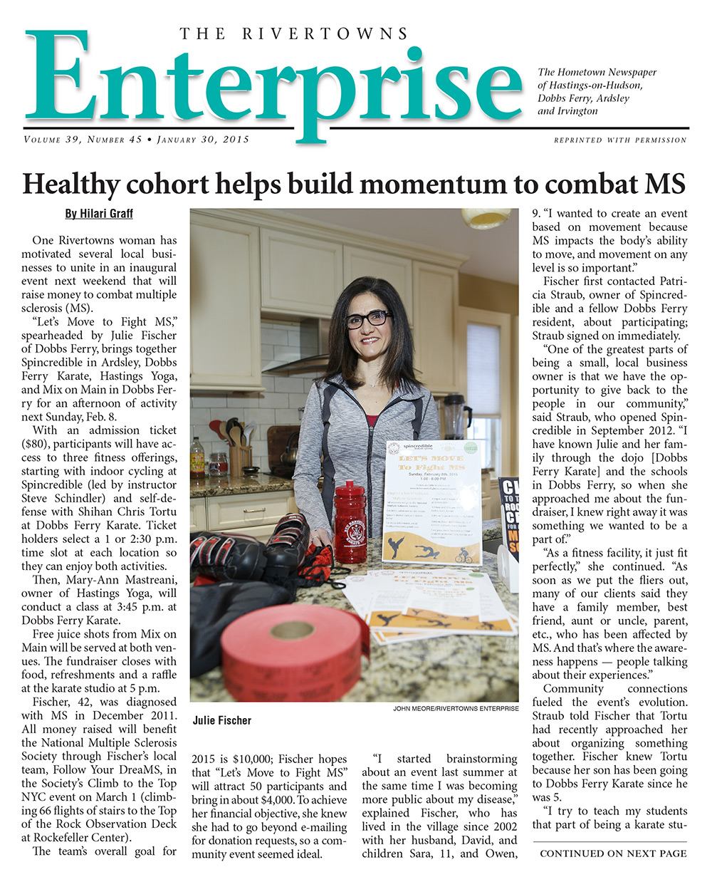 "Read about    ""Let's Move to Fight MS"" in the  Rivertowns Enterprise."