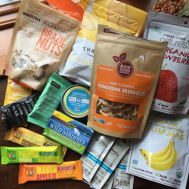Nuts, seeds, canned fish, and dried fruit snacks are perfect for travel (if you're on the 21DSD, hold off on the Rx Bars and fruit snacks for now - but they are great for post-detox!)