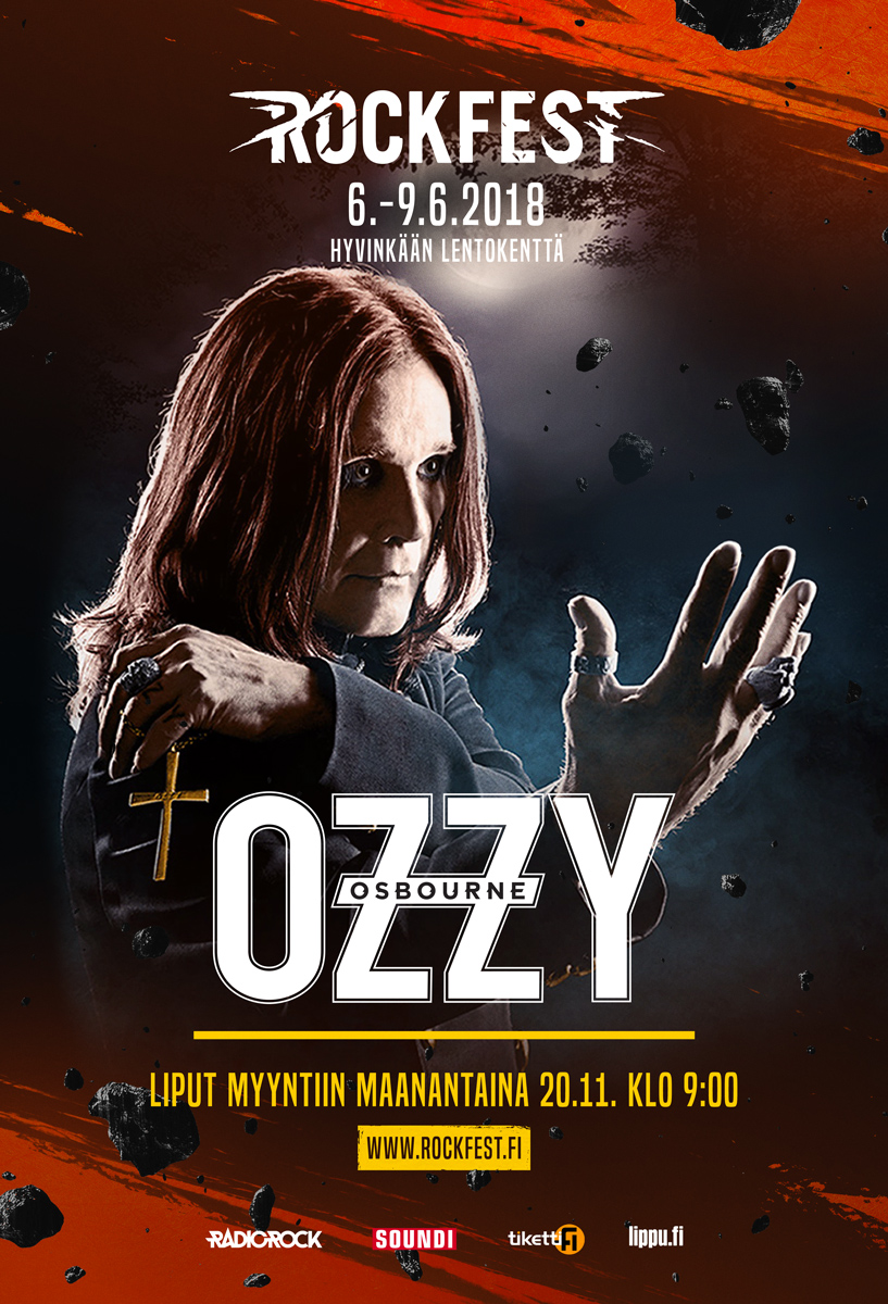 Outdoor campaign, artist poster featuring Ozzy Osbourne