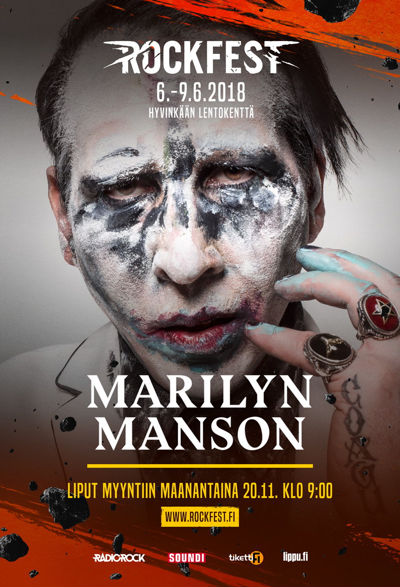 Outdoor campaign, artist poster featuring Marilyn Manson