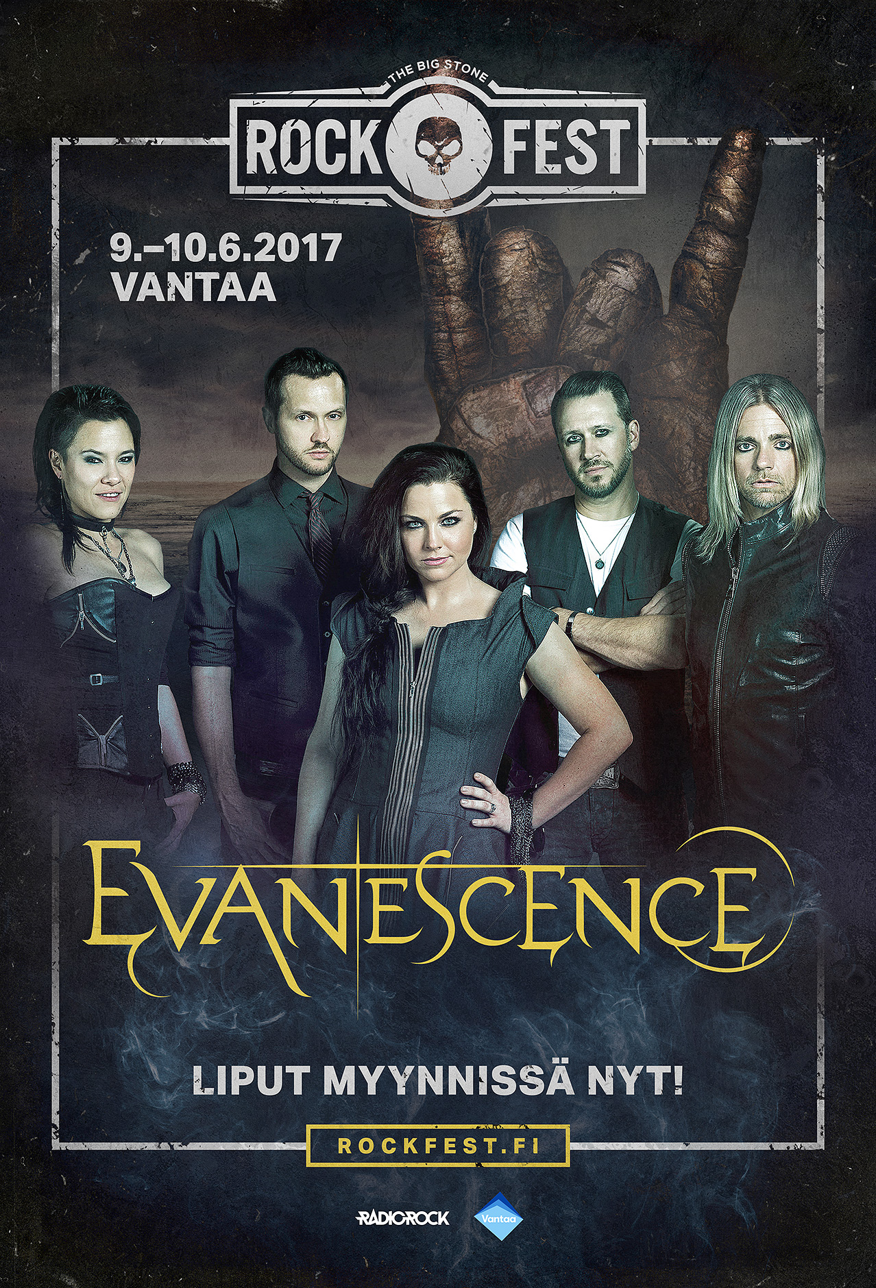 Outdoor campaign, artist poster featuring Evanescence