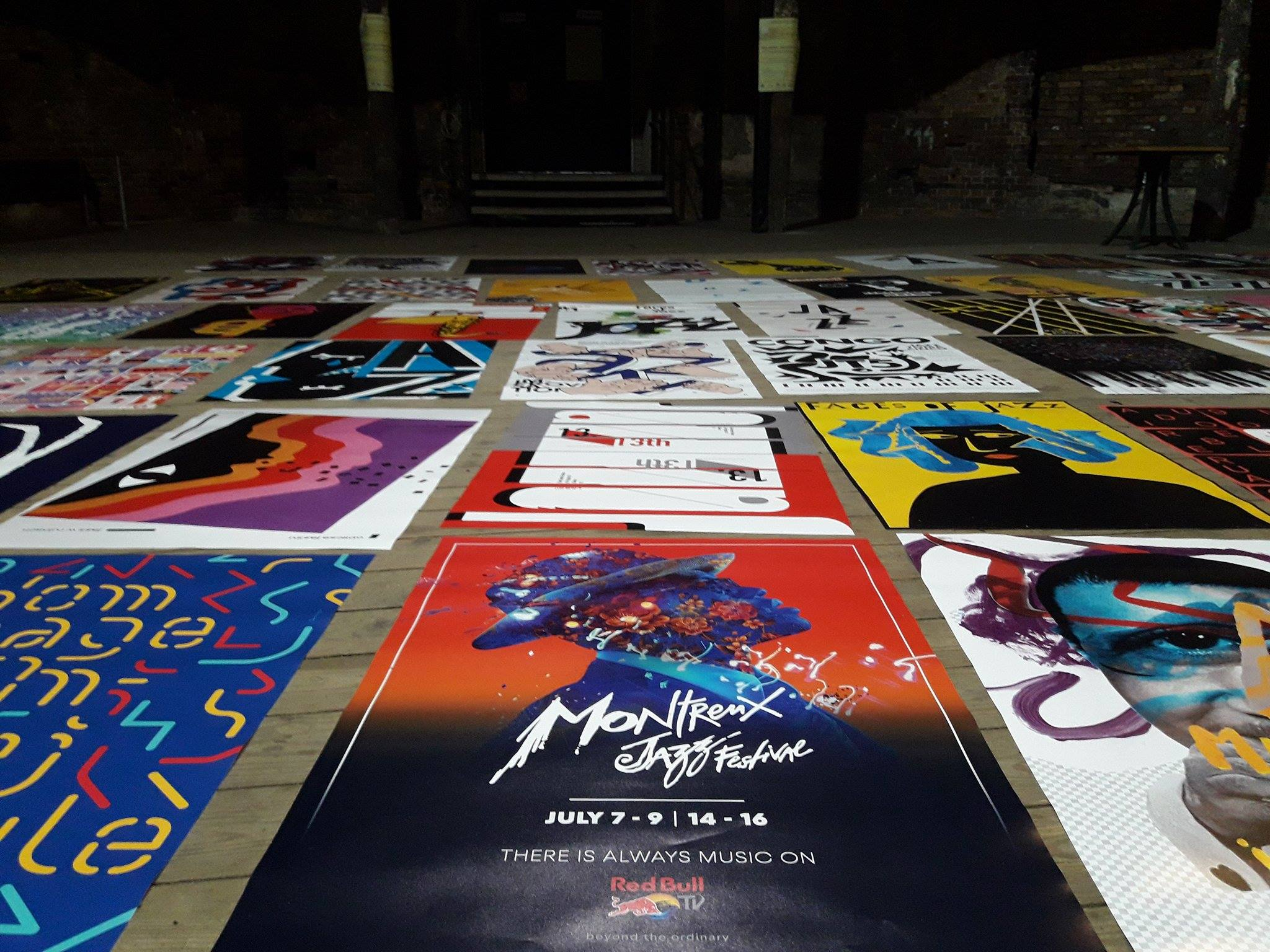 """Poster exhibition. """"Jazz in the Ruins"""", Gliwice 2017"""